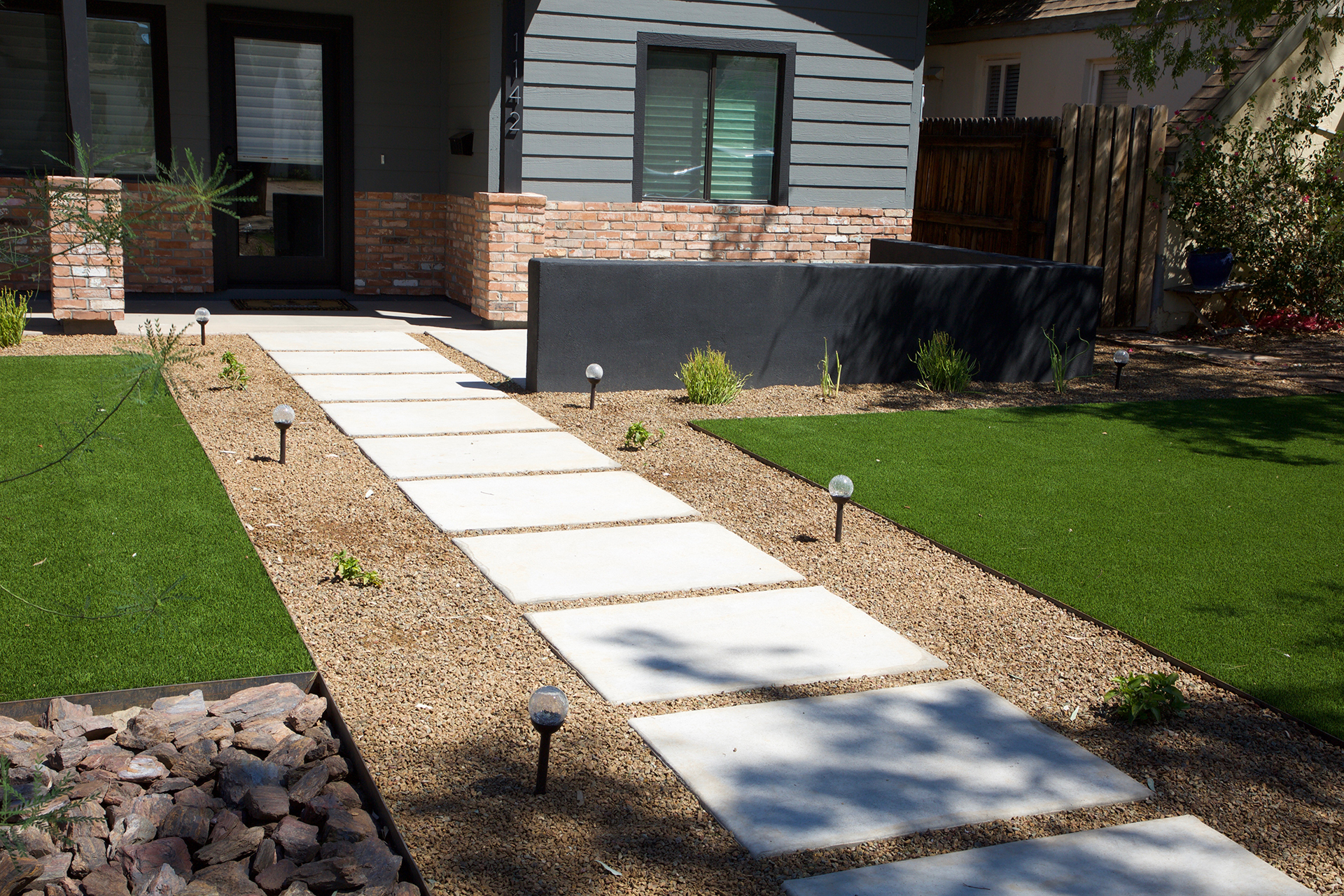 Front Yard Walkway All Terrain Landscaping