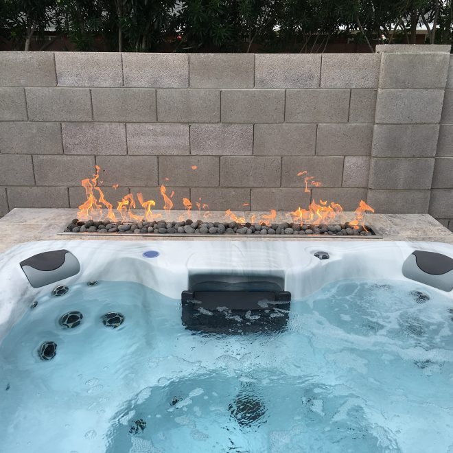 Hot Tub with Fire
